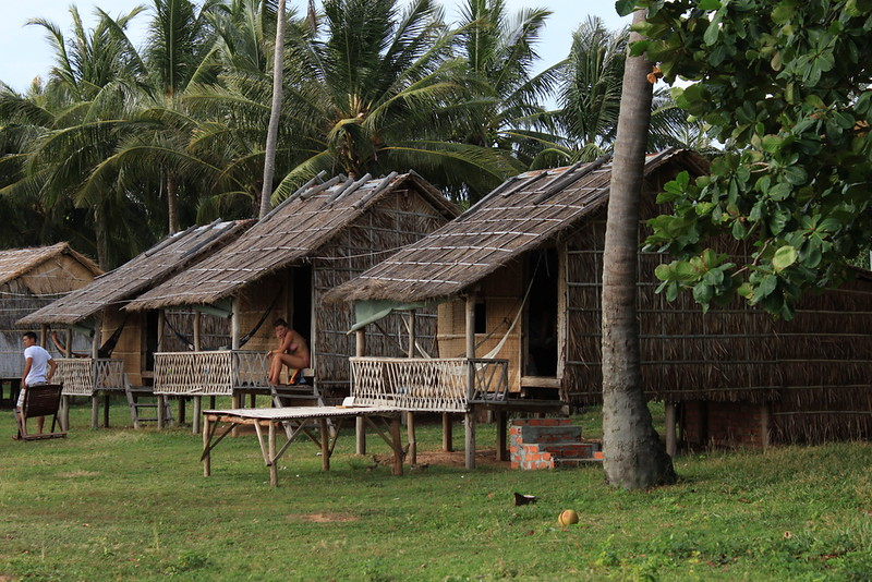 Thatched huts on Rabbit Island if you're craving quiet, very simple and remote