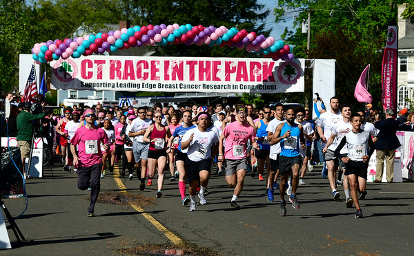 5/11/2019 Mike Orazzi | Staff The 5K start during the 16th annual Race in The Park held Saturday in New Britain.