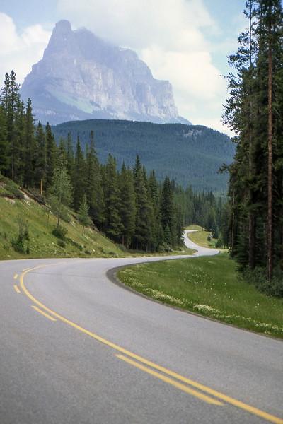 Road - Between Banff and Lake Louise, Alberta, Canada - Summer 1990