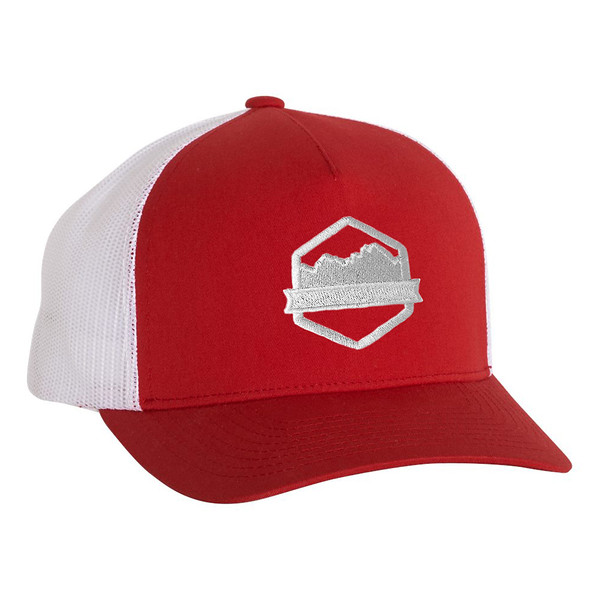 Organ Mountain Outfitters - Outdoor Apparel - Hat - Logo Five-Panel Trucker Cap - Red White.jpg