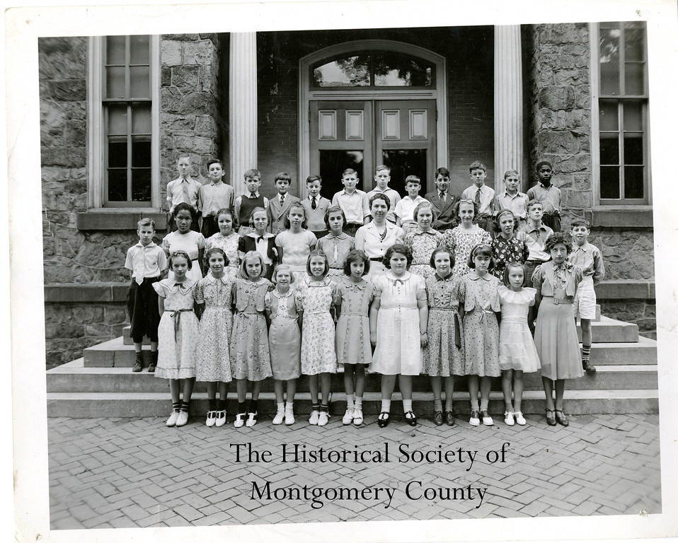 . This photo from the Historical Society of Montgomery County is a class picture from the mid-20th century at Lincoln Elementary on Noble Street in Norristown.