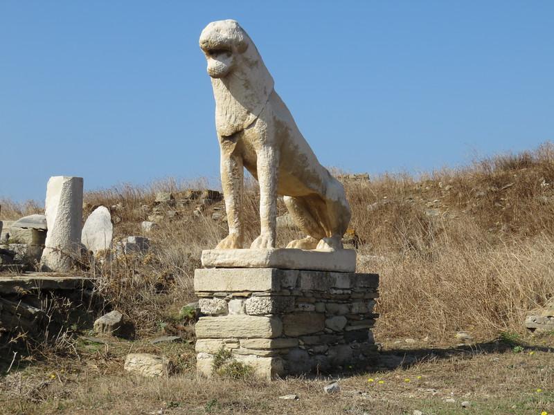 ancient statue of a lion