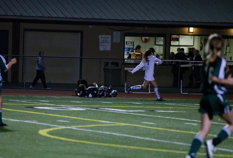 "Katrina ""Kat"" Neir  Woodinville High Girls Varsity Soccer verse Skyline High October 20, 2011, ©Neir"