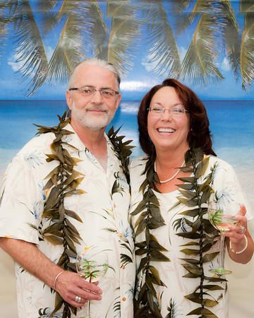 Mary and Chris' Wedding Luau Celebration