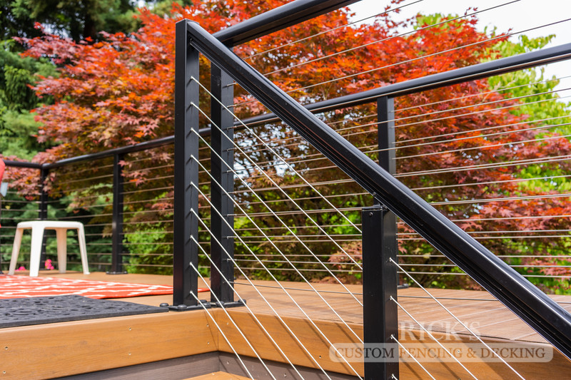 1703 - Aluminum Handrail with Stainless Steel Cable