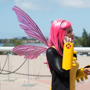 Cosplayers on the Phones