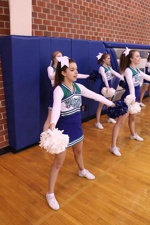 Freshman Cheerleaders MN vs MS boys basketball