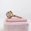 4.03ct Light Fancy Brown Antique Cushion Cut Diamond Halo Ring GIA LFB, SI1 41