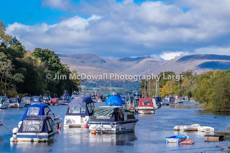 Small Pleasure Craft at the bottom of Loch Lomond in Balloch