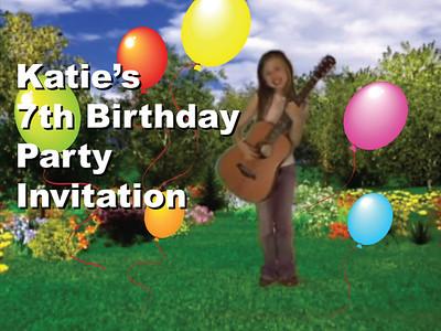 Katie's 7th Birthday Invitation