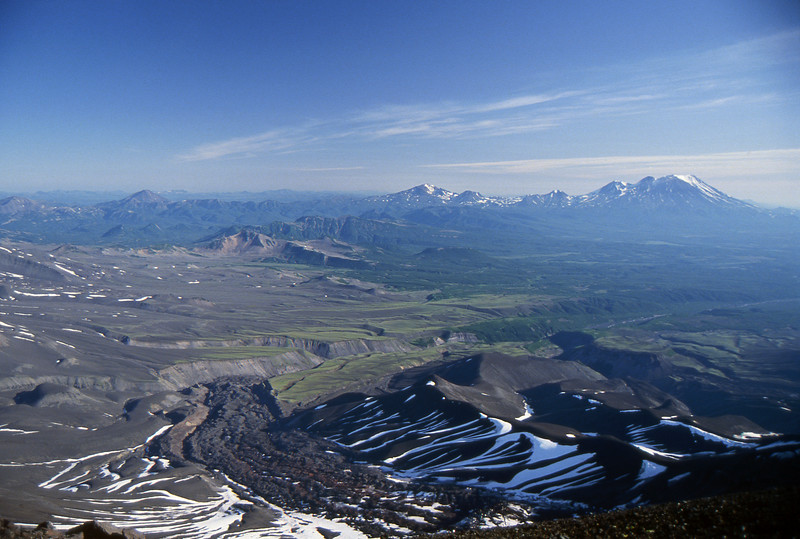 View from the Avachinsky Volcano - Kamchatka, Russian Federation - Summer 1993