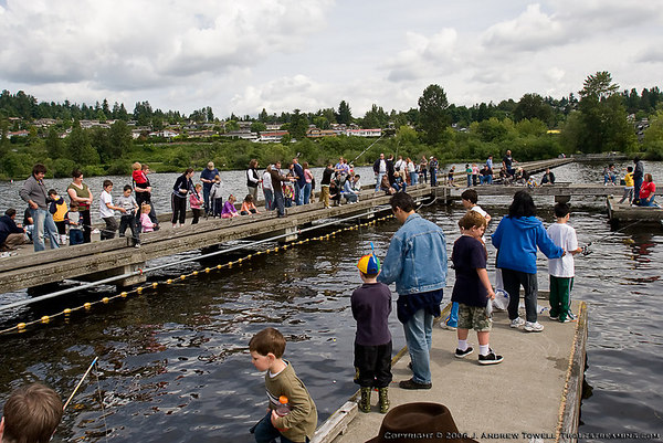 060603 Northshore Chapter of Trout Unlimited Kids Fishing Event at Tracy Owens Station in Kenmore