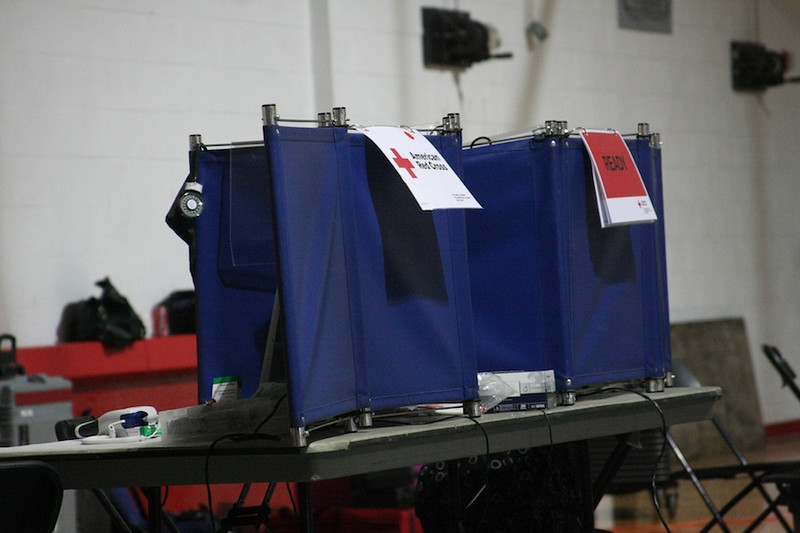 American Red Cross conducts blood drive in Bost Gym.