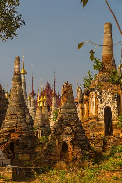 Pagodas at Shwe Indein