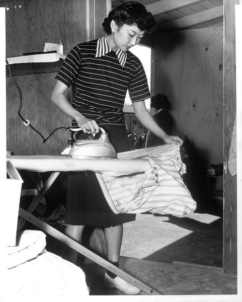 """Jap Evacuation -- Owens Valley -- Manzanar""--caption on photograph"