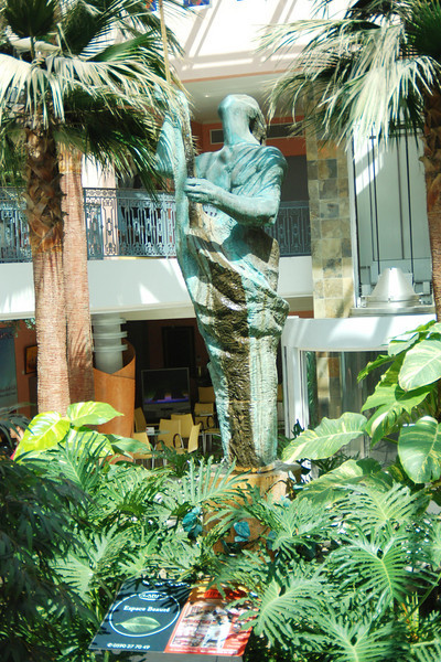 Statue in mall on the French side of St. Maarten