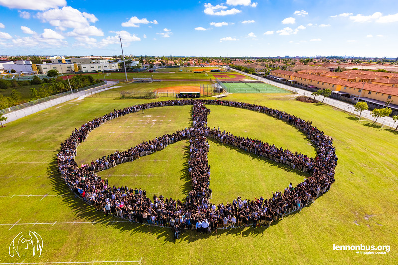 2017_11_08, FL, Hialeah Gardens, Hialeah High School, Peace Sign