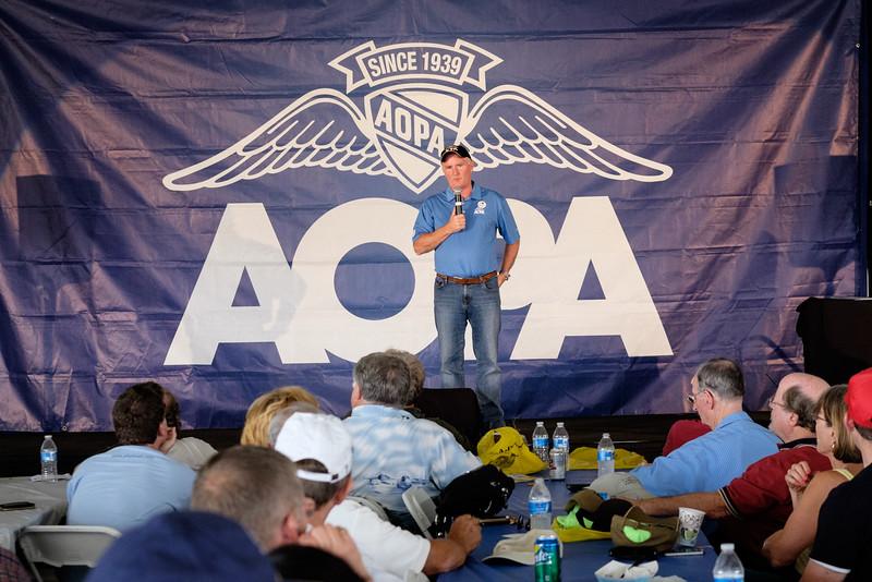 President Mark Baker at AOPA Regional Fly-in Chino, CA - 21SEP2014
