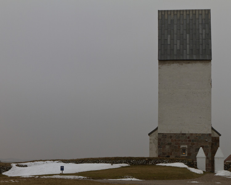 Trans kirke, Bovbjerg. Feb 27 @ 13:20 ... with the North Sea in my back