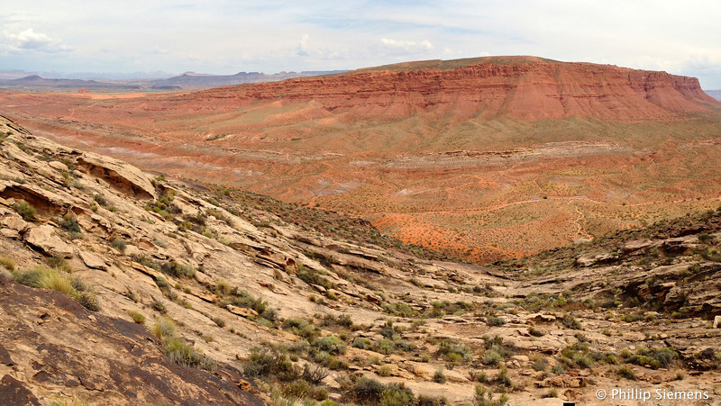 Panorama, looking across the sand dunes