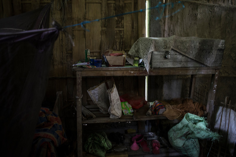 Dhemanji, Assam, India August,2014:   Home  of Pink Das (17)  in Both Doi village outside of Dhemanji town.   Poverty is one of key factors of early marriage in Assam.   Series on early marriages in Assam, India for Al Jazeera America.       Photo:  Sami Siva