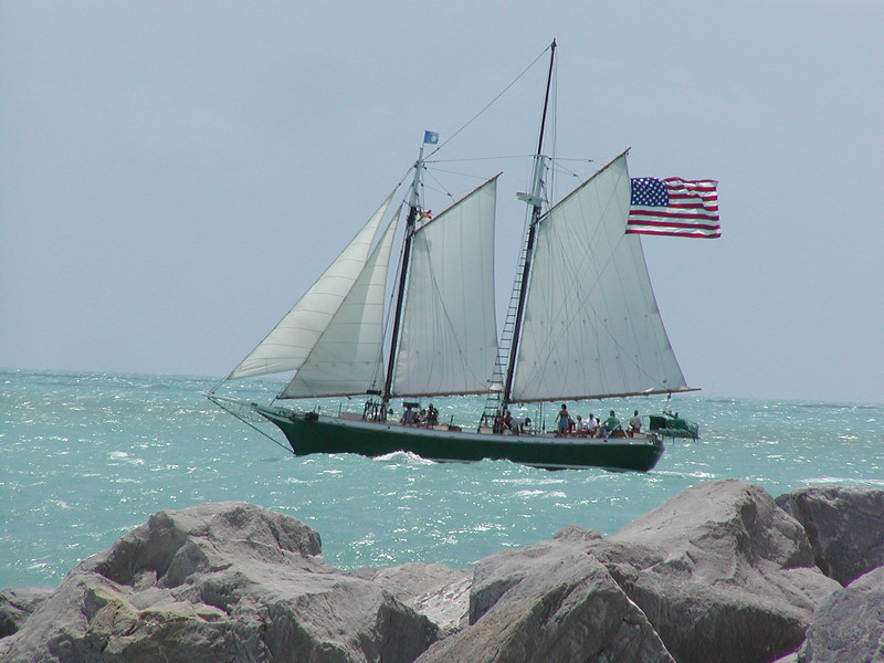 Rounding the point in Key West.