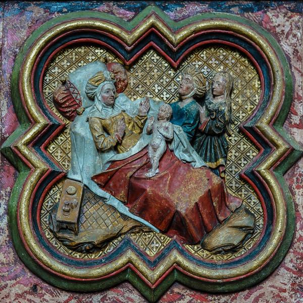 Amiens Cathedral, Elizabeth Naming her Son, John