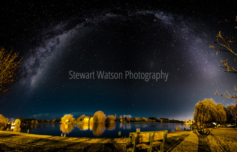 Milky way over Henley Lake Masterton NZ