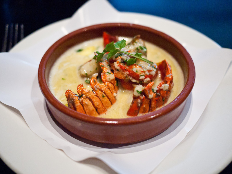 Western Australia Lobster Medallians with Garlic Butter from Kingsleys Steak and Crabhouse at the Canberra Centre