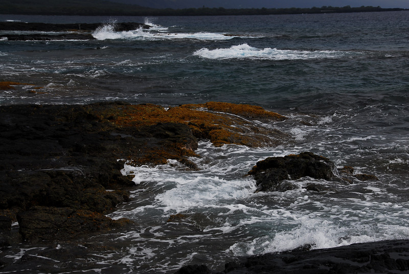 Rocky coastline at Puʻukoholā Heiau National Historic Site, Hawaii