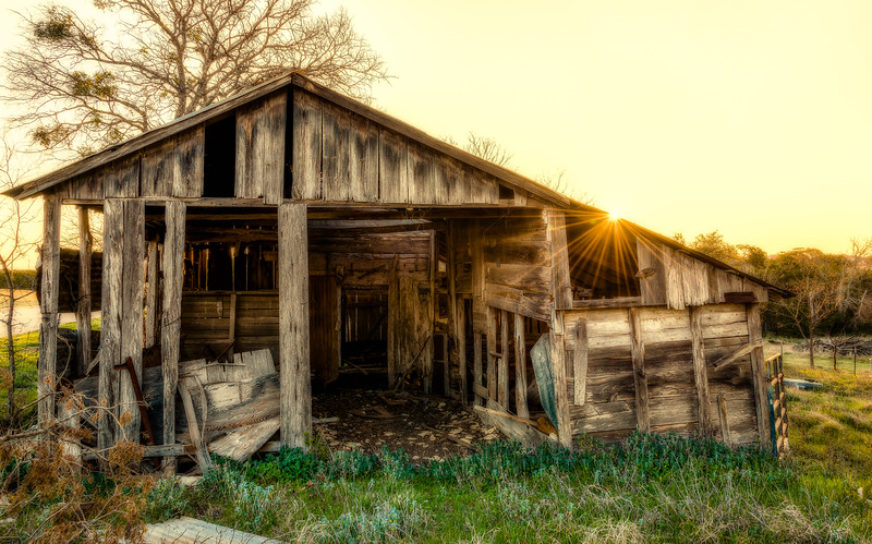 Morning at the Old Shed behind Motel 6