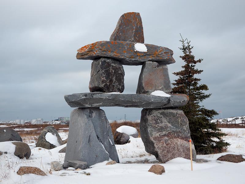 Inuksuk in Churchill, Manitoba