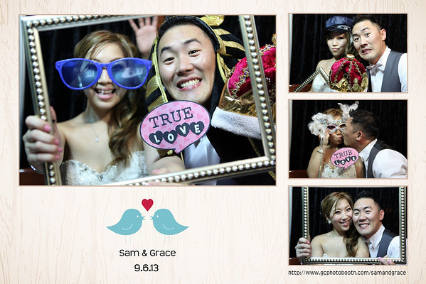 Sam and Grace Wedding Photo Booth Prints