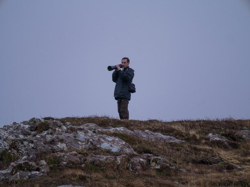 Dean shooying the wildlife