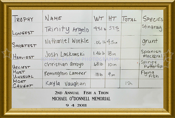 """MICHAEL O""""DONNELL FISH A THON-2011"""