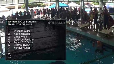 E17 Women's 100 yd Butterfly