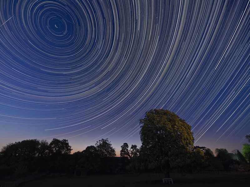 Meteor Star Trail