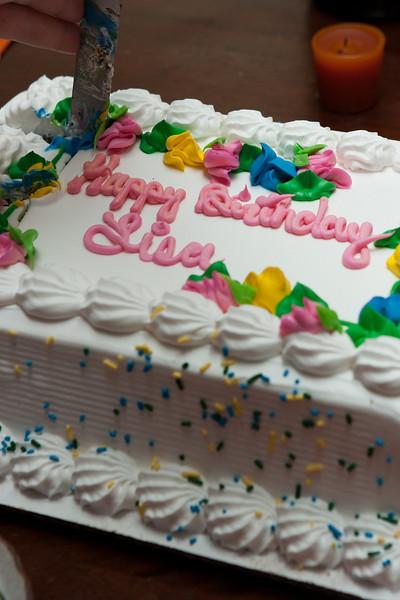An ice-cream cake.