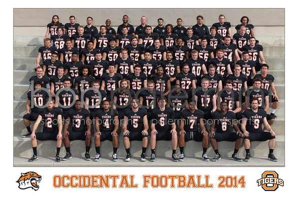 Oxy 2014 Football Team Photo