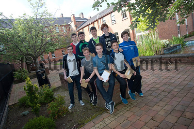 Students from St Colmans Newry who received their GCSE results. R1535005
