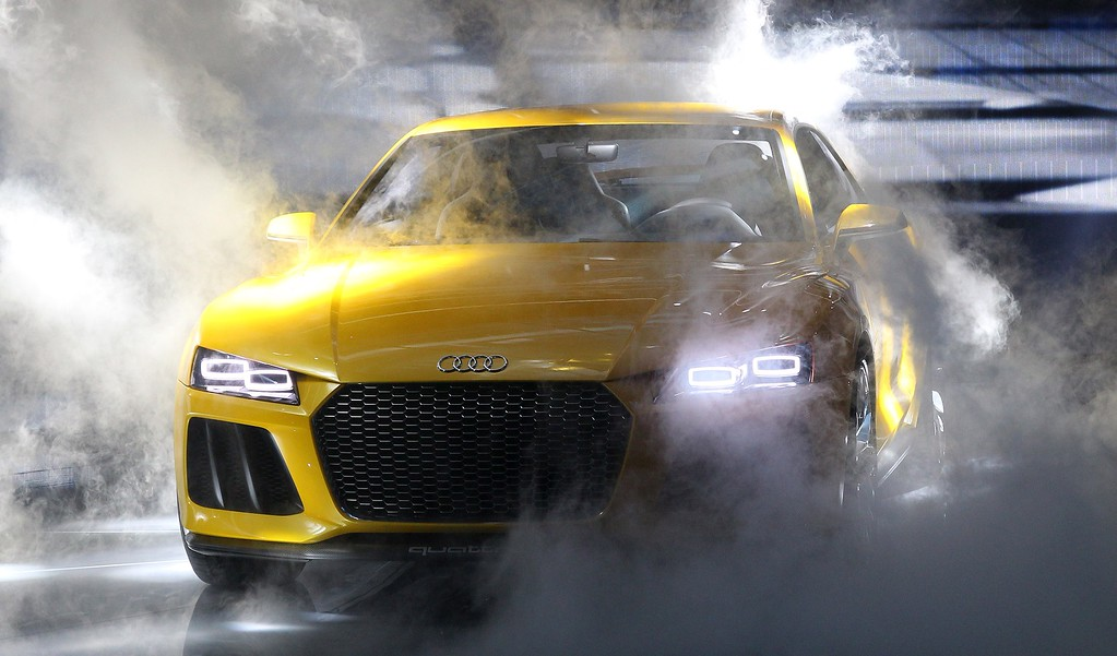 . An Audi quattro sport concept hybrid car is presented during the media day of the IAA (Internationale Automobil Ausstellung) international motor show in Frankfurt am Main, western Germany, on September 10, 2013.    AFP PHOTO / DANIEL ROLAND/AFP/Getty Images