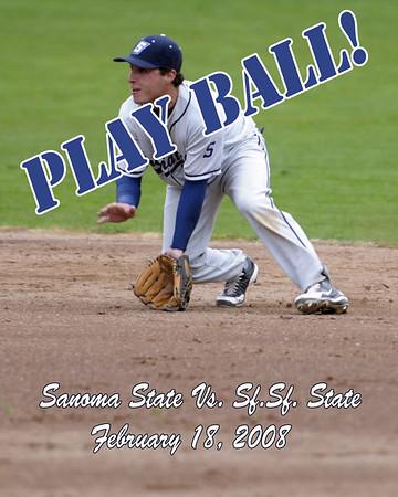 Baseball S.F. State 2-18-08