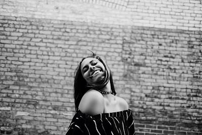 Ashlyn's Senior Photos | Glam & Grunge in Downtown