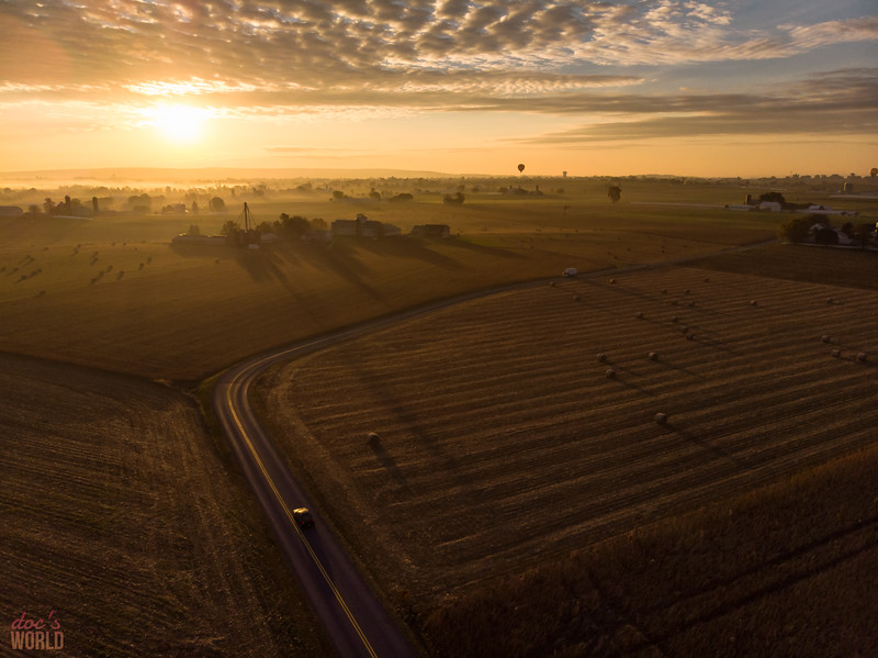 1554 - uasp - sunrise over Voganville Road