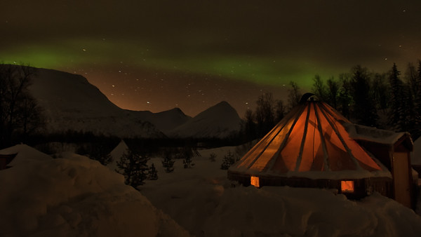 The Northern Lights Over My Lavvu