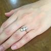 1.38ctw Antique Old European Cut Diamond 3-Stone Ring 1