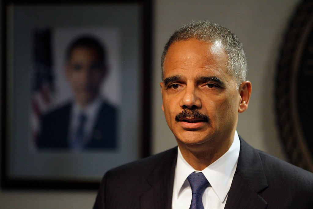 """. <p><b> Attorney General Eric Holder made headlines Monday when he proposed significantly lighter prison sentences for ... </b> <p> A. Some drug offenses  <p> B. Immigration violations  <p> C. Leaking IRS records of Republicans  <p>   (Chris Graythen/Getty Images) <p><b><a href=\'http://www.twincities.com/ci_23843218/attorney-general-eric-holder-drug-crime-sentences\' target=\""""_blank\""""> HUH?</a></b>"""