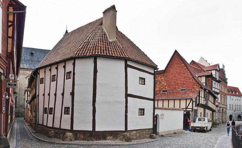 Quedlinburg: sehr altes Fachwerkhaus