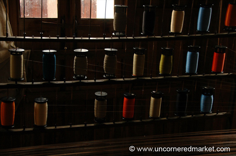 Silk Threads - Inle Lake, Burma