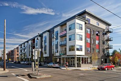 Ann De' Lee Apartments, Portland OR.  Client:  Myhre Group Architects, Portland, OR